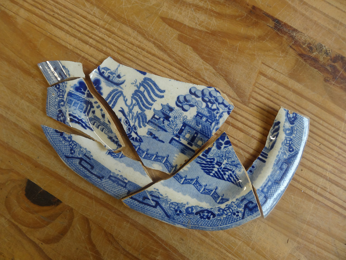 Willow Pattern Ceramic Sherds